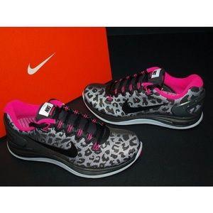 premium selection e8de2 f16a7 ... Nike Shoes - Nike Lunarglide 5 reflective cheetah print shoes  Nike  Womens Shoes Lunarglide 5 Shield Grey Pink Black.Leopard. Reflective Silver  ...